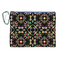 Abstract Elegant Background Pattern Canvas Cosmetic Bag (xxl)