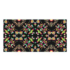 Abstract Elegant Background Pattern Satin Shawl