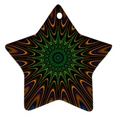 Vibrant Colorful Abstract Pattern Seamless Ornament (star)