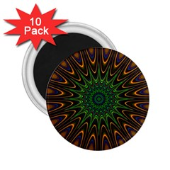 Vibrant Colorful Abstract Pattern Seamless 2 25  Magnets (10 Pack)