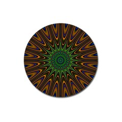 Vibrant Colorful Abstract Pattern Seamless Magnet 3  (Round)