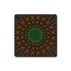 Vibrant Colorful Abstract Pattern Seamless Square Magnet
