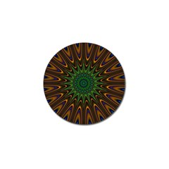 Vibrant Colorful Abstract Pattern Seamless Golf Ball Marker (4 pack)