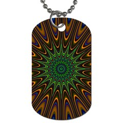 Vibrant Colorful Abstract Pattern Seamless Dog Tag (Two Sides)
