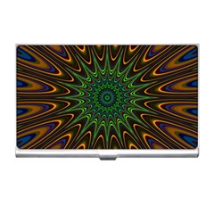 Vibrant Colorful Abstract Pattern Seamless Business Card Holders