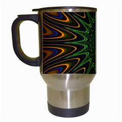 Vibrant Colorful Abstract Pattern Seamless Travel Mugs (White)