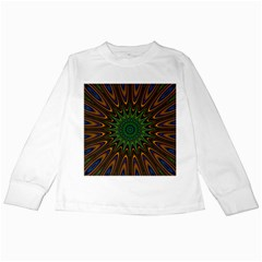 Vibrant Colorful Abstract Pattern Seamless Kids Long Sleeve T Shirts