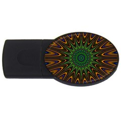 Vibrant Colorful Abstract Pattern Seamless Usb Flash Drive Oval (4 Gb)