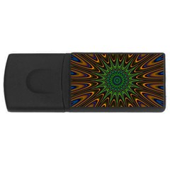 Vibrant Colorful Abstract Pattern Seamless Usb Flash Drive Rectangular (4 Gb)
