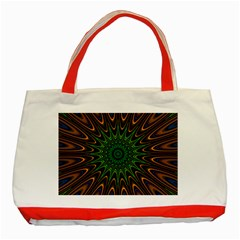 Vibrant Colorful Abstract Pattern Seamless Classic Tote Bag (red)