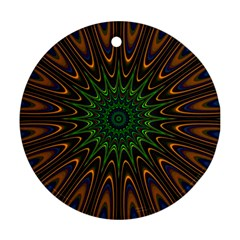 Vibrant Colorful Abstract Pattern Seamless Round Ornament (two Sides)
