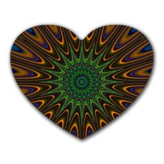 Vibrant Colorful Abstract Pattern Seamless Heart Mousepads