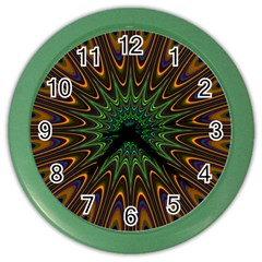 Vibrant Colorful Abstract Pattern Seamless Color Wall Clocks