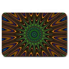 Vibrant Colorful Abstract Pattern Seamless Large Doormat