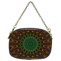 Vibrant Colorful Abstract Pattern Seamless Chain Purses (two Sides)