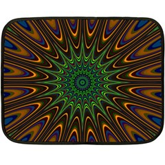 Vibrant Colorful Abstract Pattern Seamless Fleece Blanket (mini)