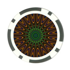 Vibrant Colorful Abstract Pattern Seamless Poker Chip Card Guard (10 Pack)