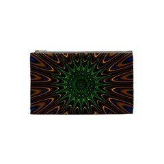 Vibrant Colorful Abstract Pattern Seamless Cosmetic Bag (Small)