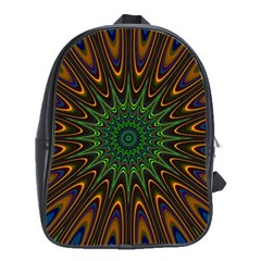 Vibrant Colorful Abstract Pattern Seamless School Bags(large)