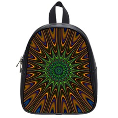 Vibrant Colorful Abstract Pattern Seamless School Bags (small)