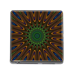 Vibrant Colorful Abstract Pattern Seamless Memory Card Reader (square)