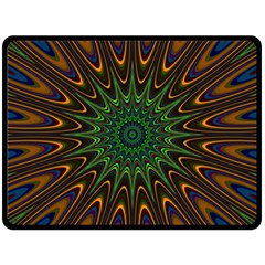 Vibrant Colorful Abstract Pattern Seamless Fleece Blanket (large)