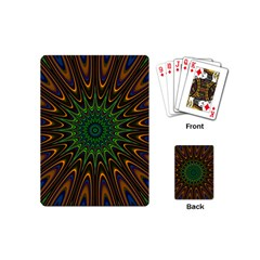 Vibrant Colorful Abstract Pattern Seamless Playing Cards (mini)