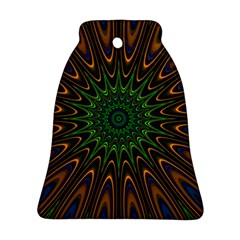 Vibrant Colorful Abstract Pattern Seamless Ornament (bell)