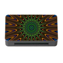 Vibrant Colorful Abstract Pattern Seamless Memory Card Reader With Cf
