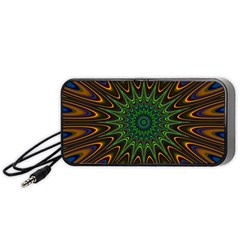 Vibrant Colorful Abstract Pattern Seamless Portable Speaker (Black)