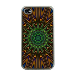 Vibrant Colorful Abstract Pattern Seamless Apple iPhone 4 Case (Clear)