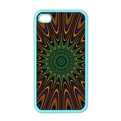 Vibrant Colorful Abstract Pattern Seamless Apple iPhone 4 Case (Color)