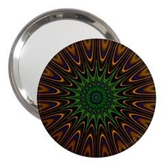 Vibrant Colorful Abstract Pattern Seamless 3  Handbag Mirrors