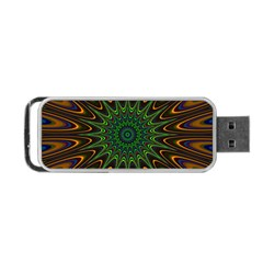 Vibrant Colorful Abstract Pattern Seamless Portable USB Flash (One Side)
