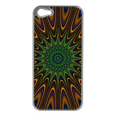 Vibrant Colorful Abstract Pattern Seamless Apple iPhone 5 Case (Silver)