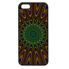 Vibrant Colorful Abstract Pattern Seamless Apple iPhone 5 Seamless Case (Black)