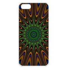 Vibrant Colorful Abstract Pattern Seamless Apple iPhone 5 Seamless Case (White)