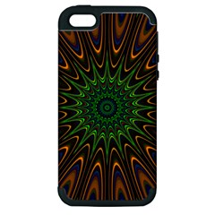 Vibrant Colorful Abstract Pattern Seamless Apple iPhone 5 Hardshell Case (PC+Silicone)