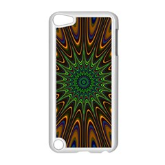 Vibrant Colorful Abstract Pattern Seamless Apple iPod Touch 5 Case (White)