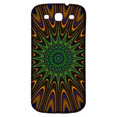 Vibrant Colorful Abstract Pattern Seamless Samsung Galaxy S3 S III Classic Hardshell Back Case