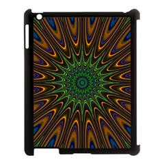 Vibrant Colorful Abstract Pattern Seamless Apple iPad 3/4 Case (Black)