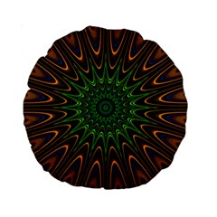 Vibrant Colorful Abstract Pattern Seamless Standard 15  Premium Round Cushions