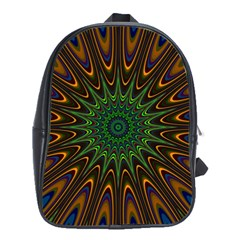 Vibrant Colorful Abstract Pattern Seamless School Bags (XL)