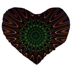 Vibrant Colorful Abstract Pattern Seamless Large 19  Premium Heart Shape Cushions