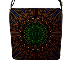 Vibrant Colorful Abstract Pattern Seamless Flap Messenger Bag (L)