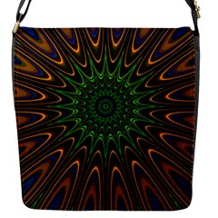 Vibrant Colorful Abstract Pattern Seamless Flap Messenger Bag (S)