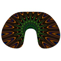 Vibrant Colorful Abstract Pattern Seamless Travel Neck Pillows