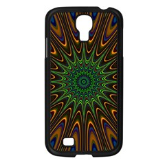 Vibrant Colorful Abstract Pattern Seamless Samsung Galaxy S4 I9500/ I9505 Case (Black)
