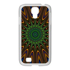 Vibrant Colorful Abstract Pattern Seamless Samsung GALAXY S4 I9500/ I9505 Case (White)