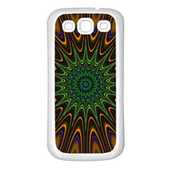 Vibrant Colorful Abstract Pattern Seamless Samsung Galaxy S3 Back Case (white)